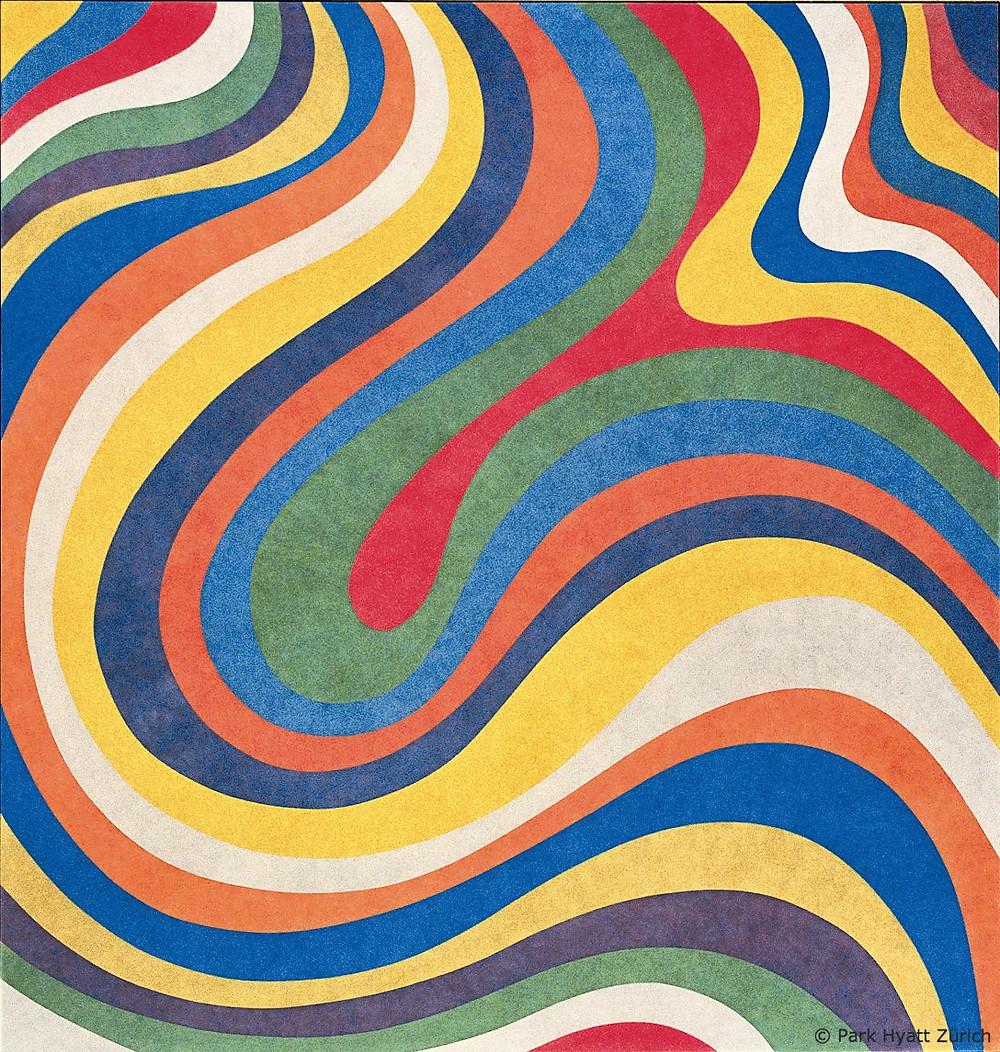 Sol LeWitt, Irregular Wavy Collor Bands, Wall Drawing No 1133
