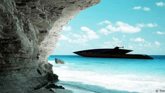 All Black Everything for This New Yacht Concept