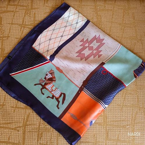 Lenço Cavalo Azul