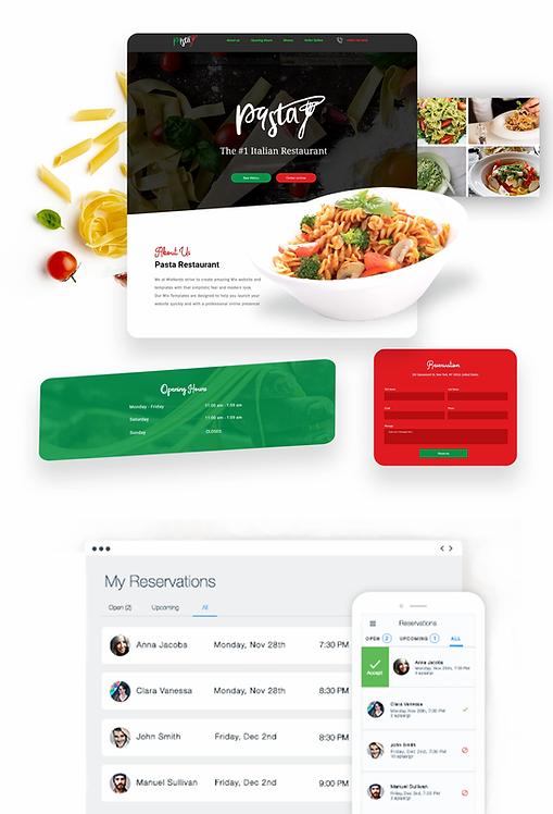 Restaurant | Pasta Template