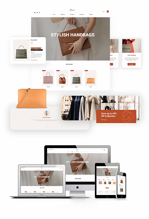 Ecommerce | WX Rose Bags Template