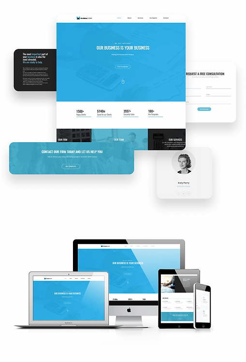 Finance/Law | Globalcorp. Template