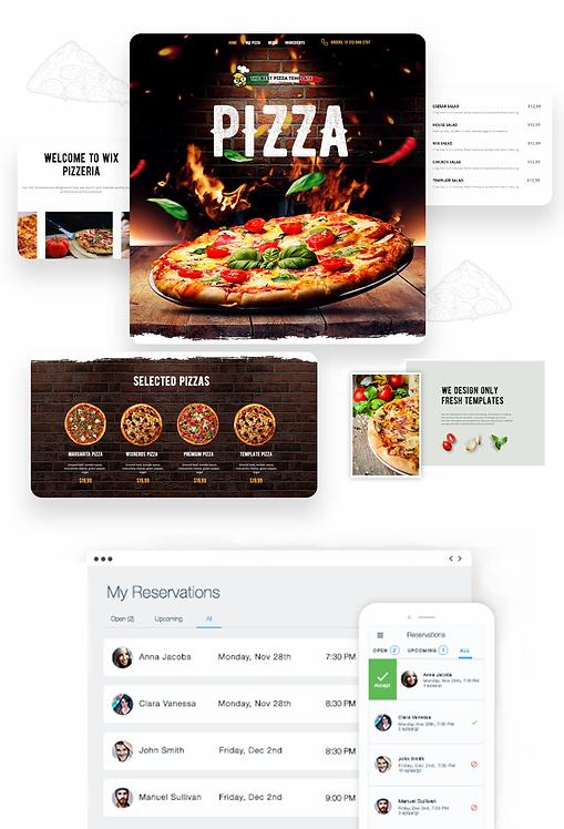 Restaurants/Foods | WixPizza Template