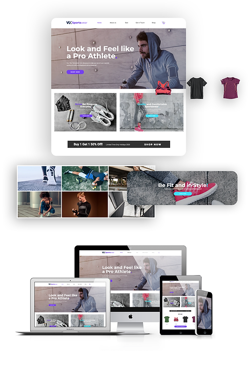 Ecommerce    WX Sneakers Template