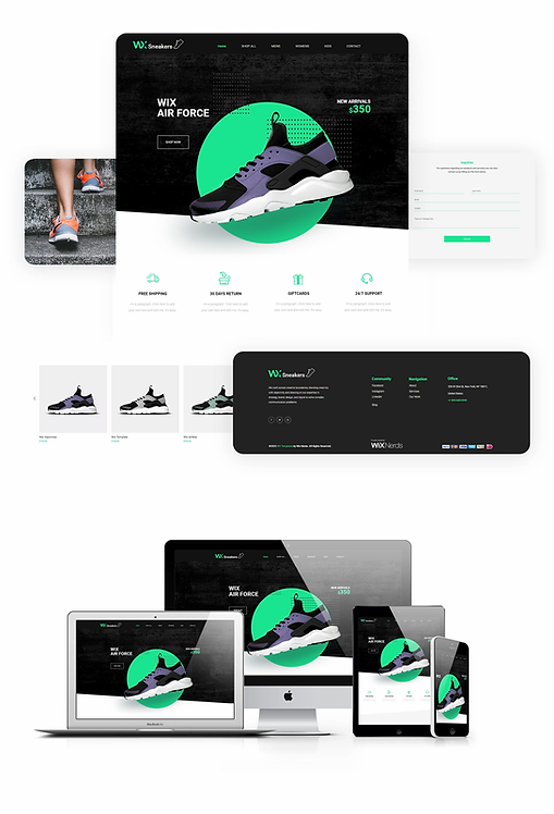 Ecommerce | WX Sneaker Template