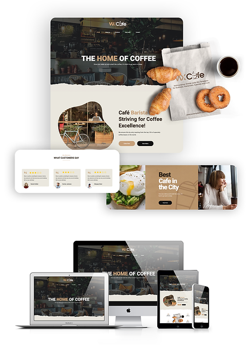 Restaurant & Cafe  | WX Cafe Template
