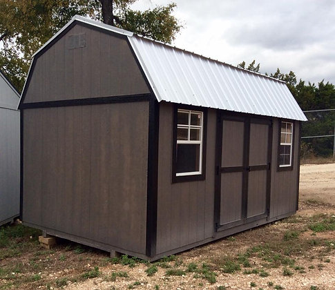 10 x 16 Side Lofted Storage Barn with Double Lofts