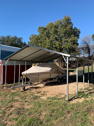 20x21 Boxed Eave Double Carport