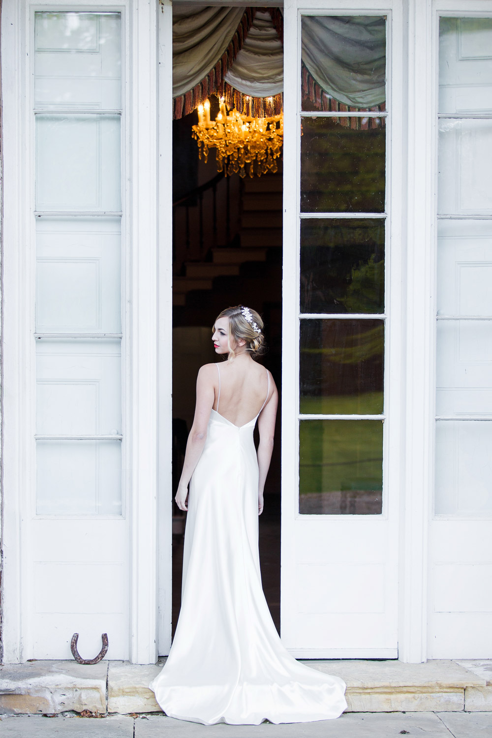 Back of the wedding dress