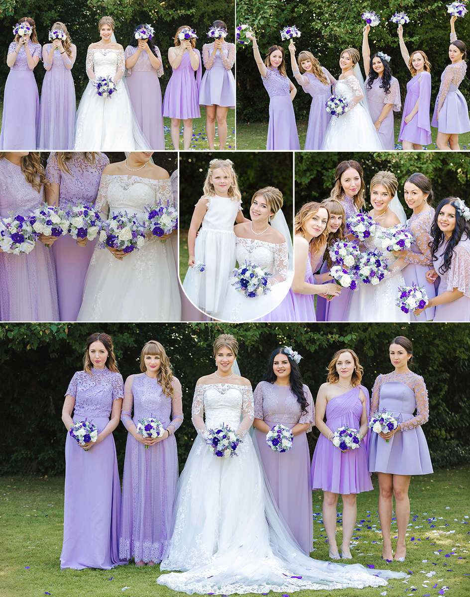 purple wedding collage