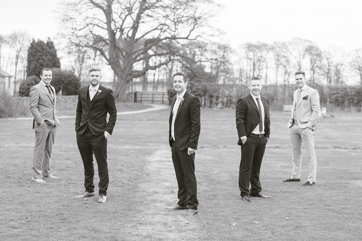 Groomsmen before wedding ceremony