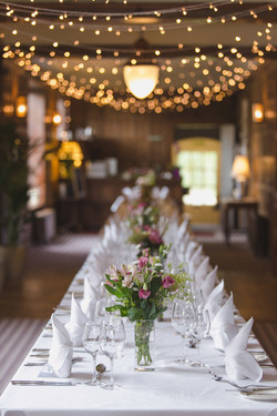 Wedding table and setting