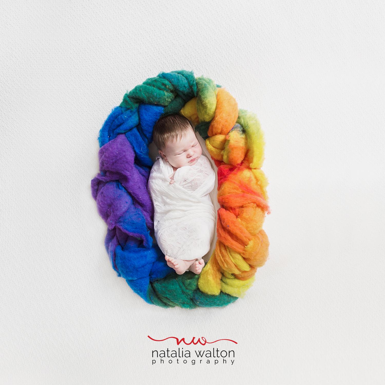 rainbow newborn