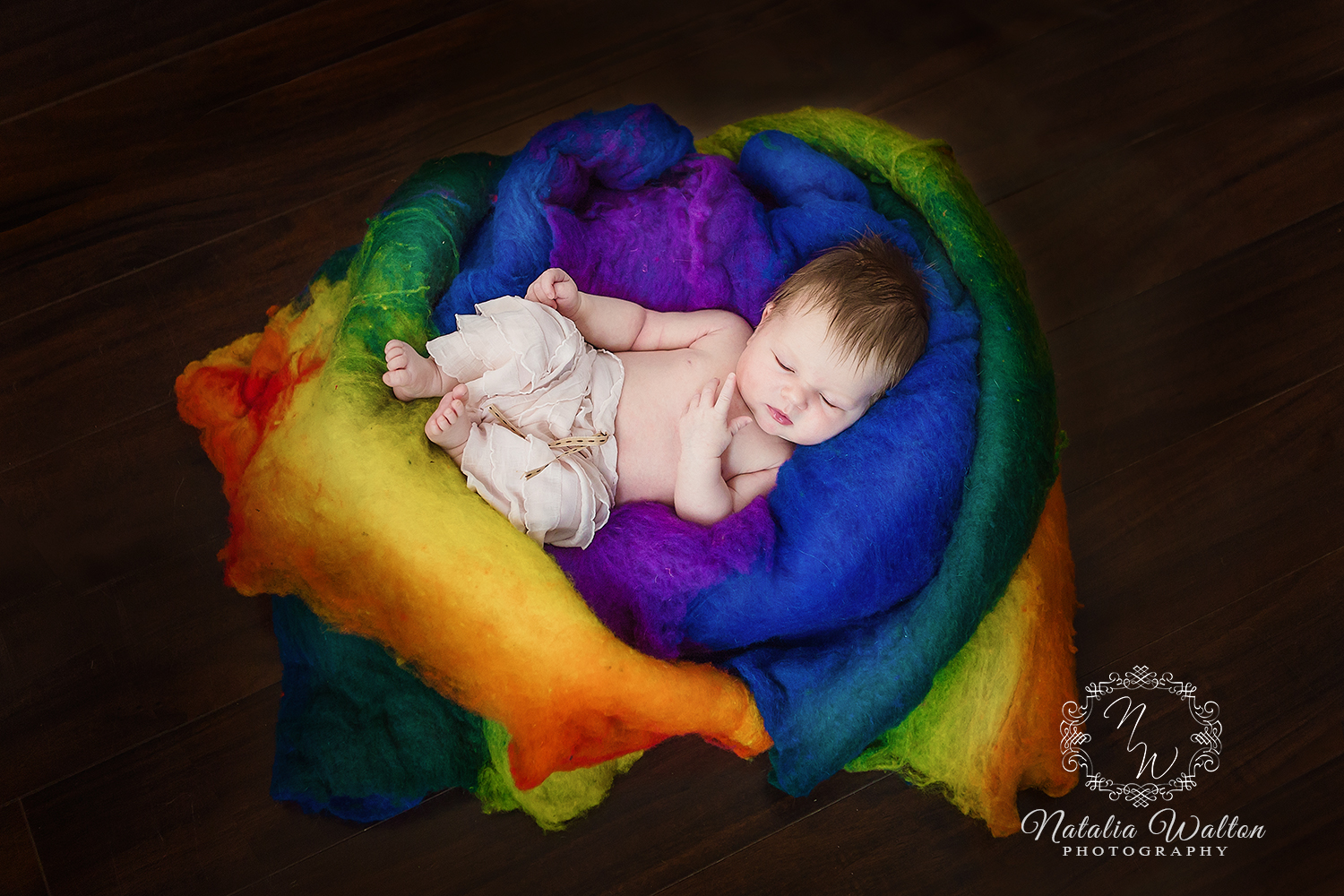 rainbow newborn girl