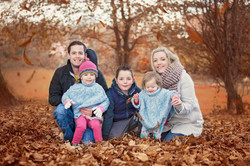 Family  fun with leaves