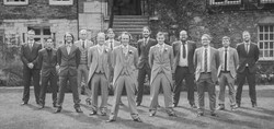 All groomsmen together during weddin