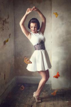 Dancing with butterflies portrait
