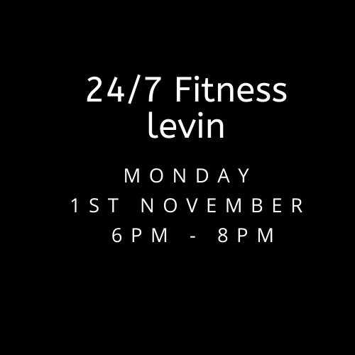 Monday 1st November 24/7 Fitness Levin