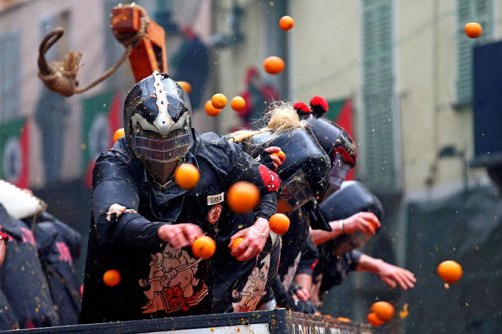Battle of the Oranges event italy