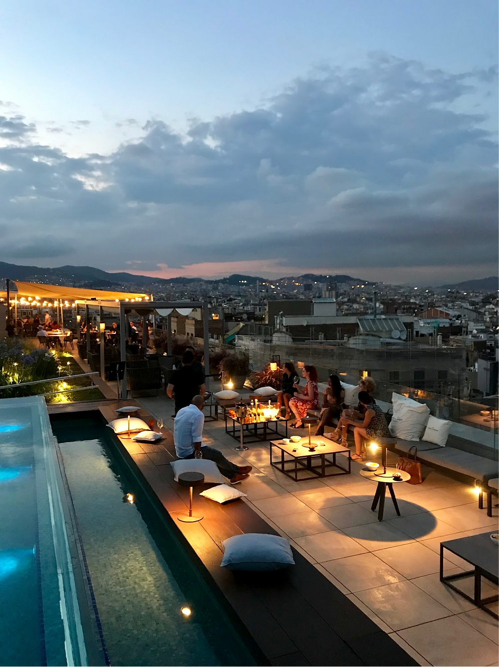 event barcelona rooftop drinks sunset party