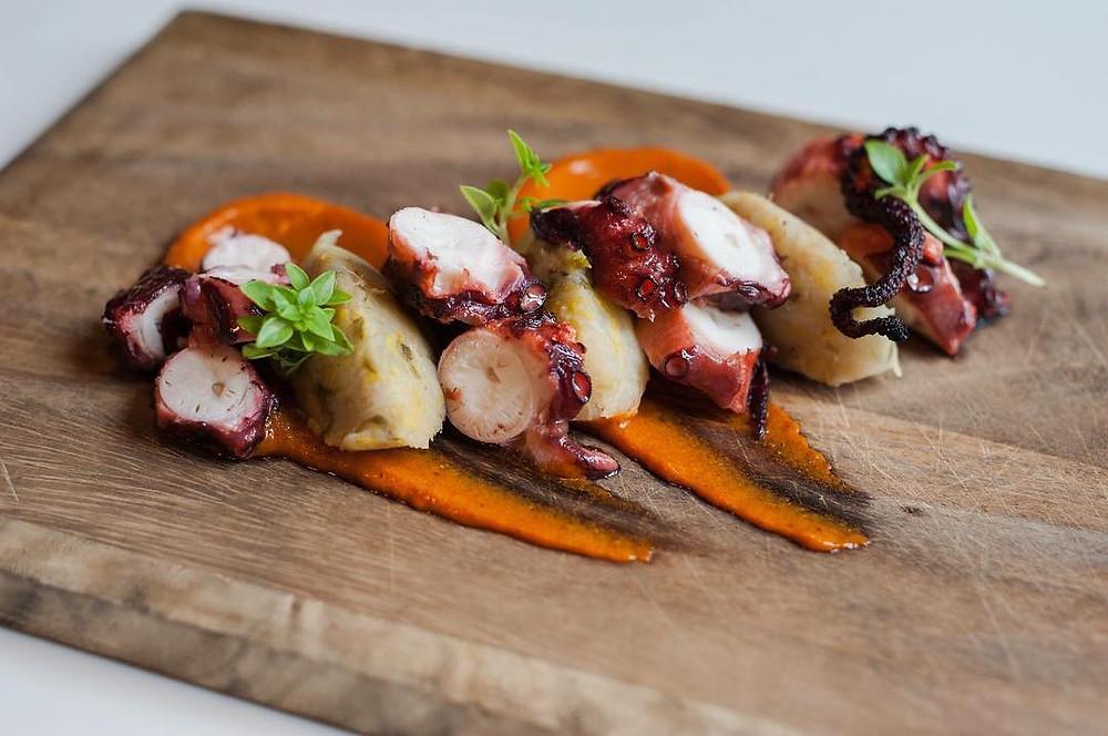 restaurant event venue barcelona octopus food