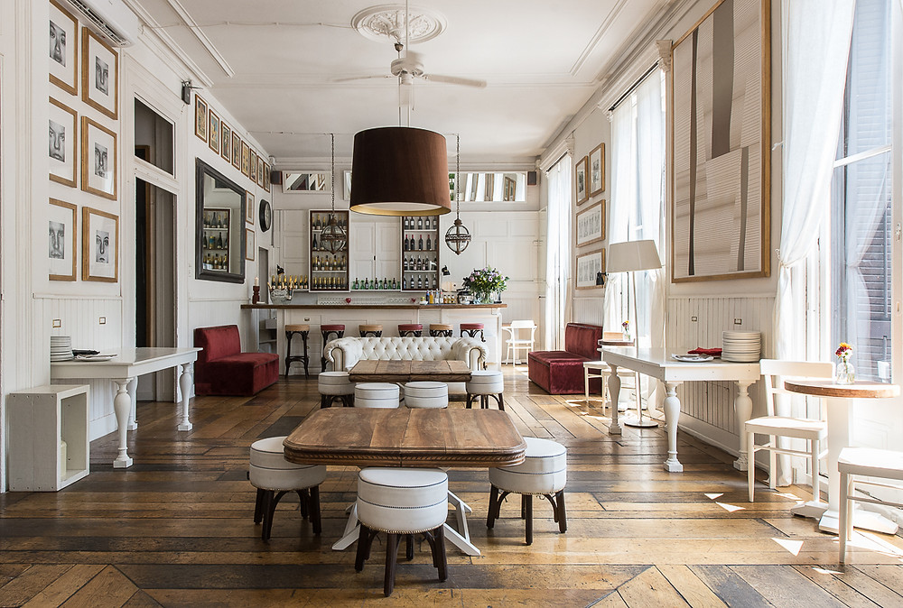 event space in barcelona white sofa big room old house restaurant