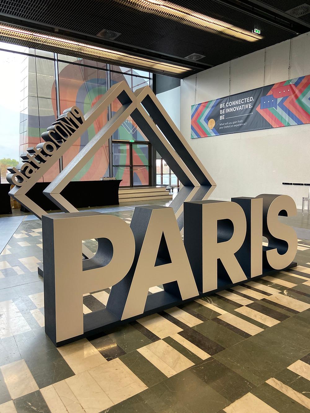 event conference design branding datto paris