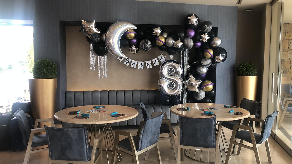 event birthday party barcelona balloons decoration