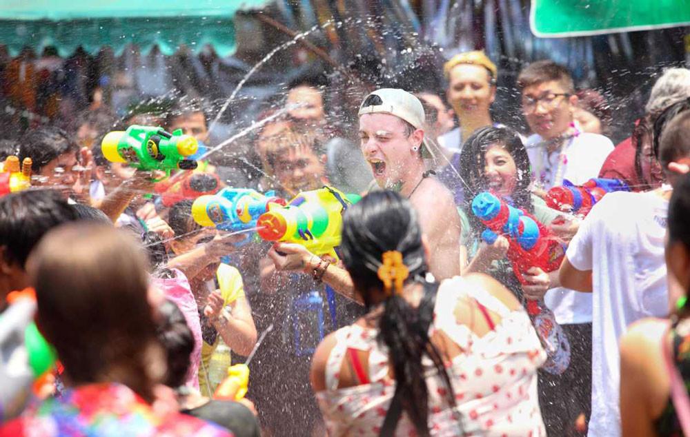 Songkran water fight event