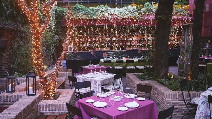 Event space madrid terrace light garden green