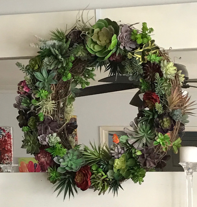 (Faux) Succulent Wreath!