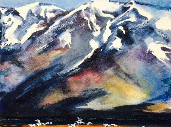 Snow Geese and the Wasatch