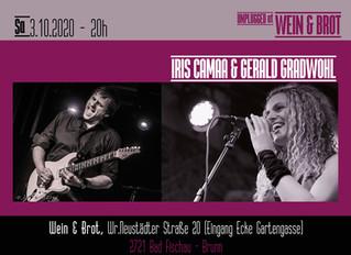 3.10.2020 Iris Camaa & Gerald Gradwohl live unplugged