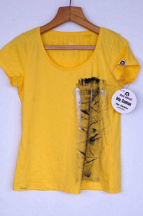 Shirt yellow black stripe M L