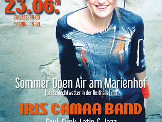 IRIS CAMAA BAND  live 23.6., Sommer Open Air am Marienhof, Spillern