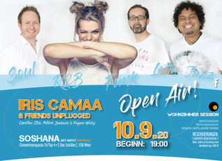 10.9.2020 Iris Camaa & Friends same address but OPEN AIR!