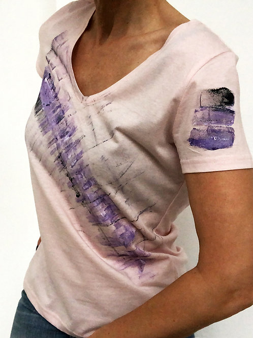 Shirt Lachsviolett