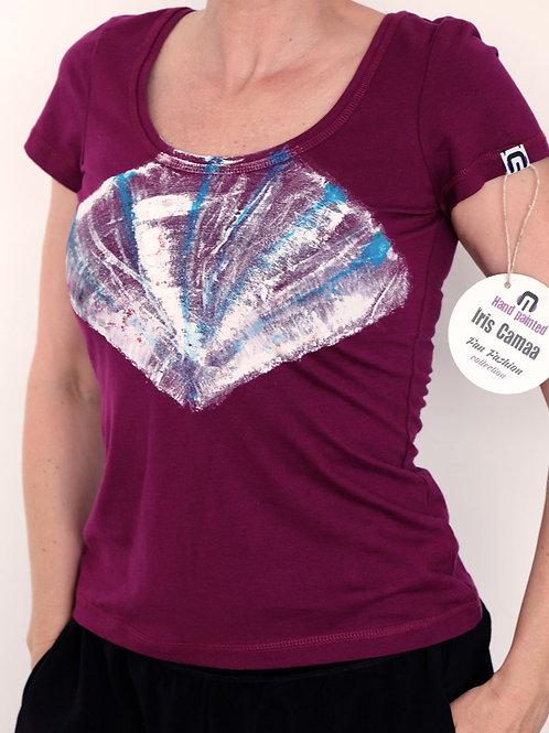 Shirt magenta heart