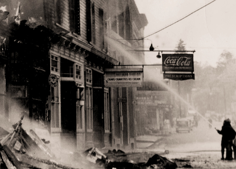 Scene from the Great Fire of 1937