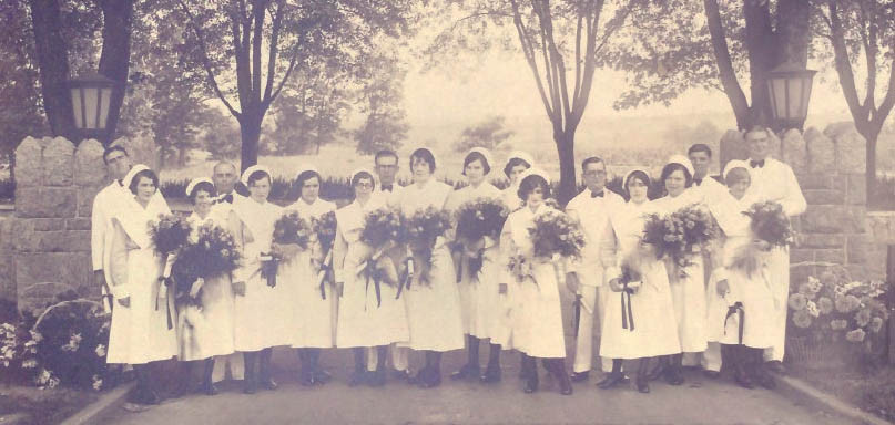 Springfield Nurses in Front of the Entryway