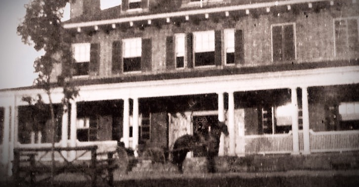 Horse and Buggy at Hospital Building