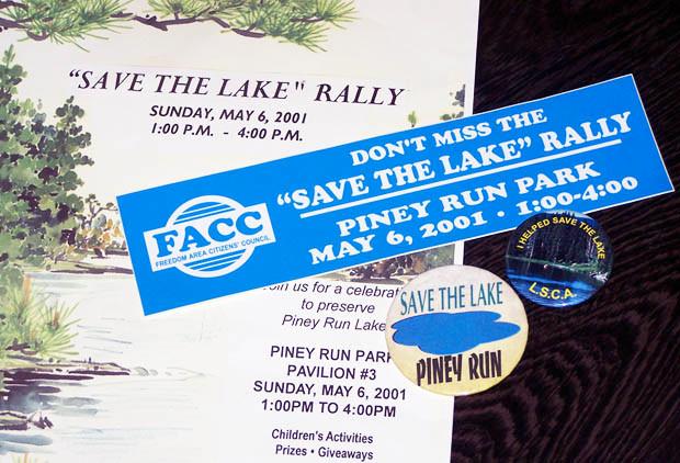 Freedom Area Citizens' Council Save the Lake Memorabilia