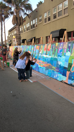 Community Mural Fundraiser, workiing for