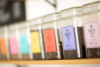 Range of Teas at The Damson Tree Cafe