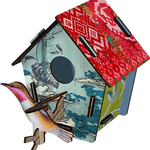 Decorative Bird House Small - Takeoff