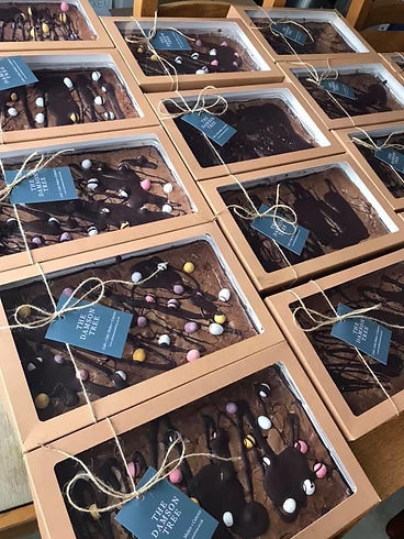 Chocolate Mini Egg Brownie Tray made by The Damson Tree Cafe