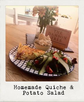Homemade Quiche & Potato Salad