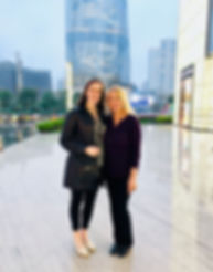 Mom and I at the Shanghai Tower, China 2