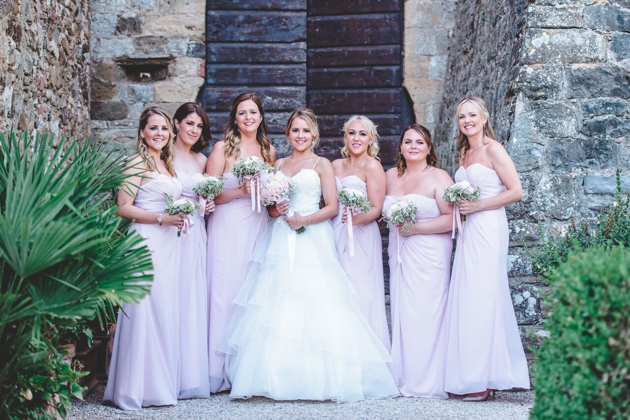 Vicky and Bridesmaids