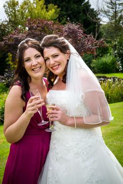 Rhio and bridesmaid